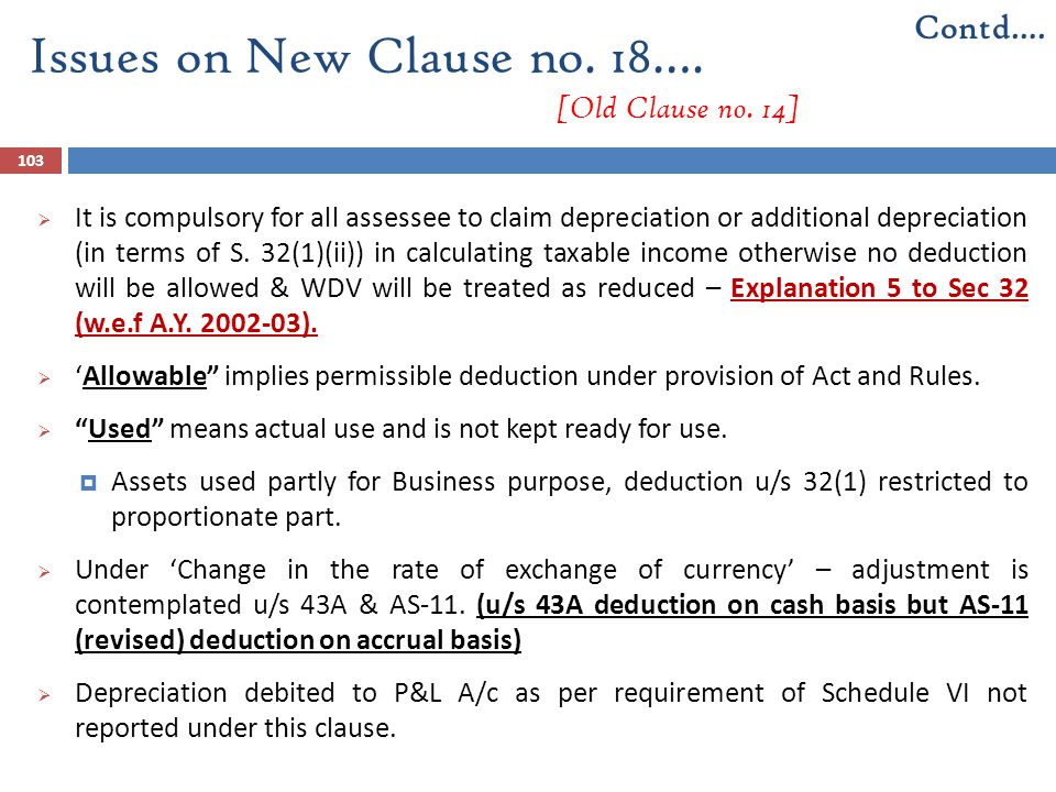 Issues on New Clause no. 18…. [Old Clause no. 14]